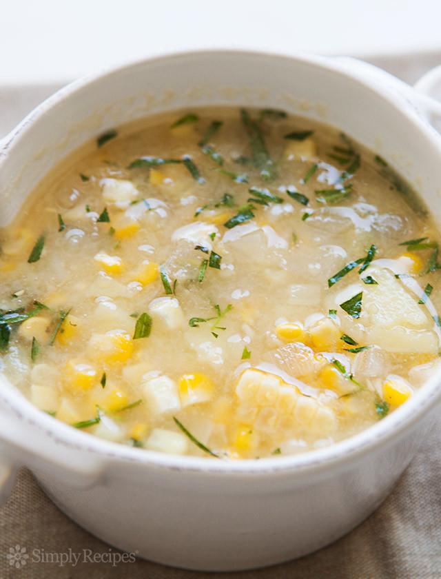 Corn Chowder Soup Recipe  Tarragon Corn Chowder Recipe