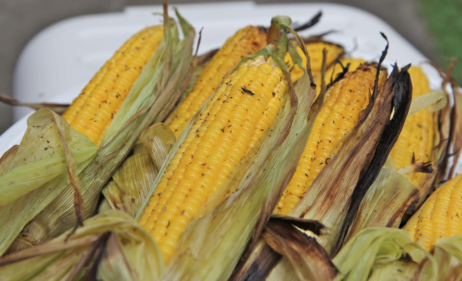 Corn In Husk On Grill  Easy Grilled Corn The Cob Recipe