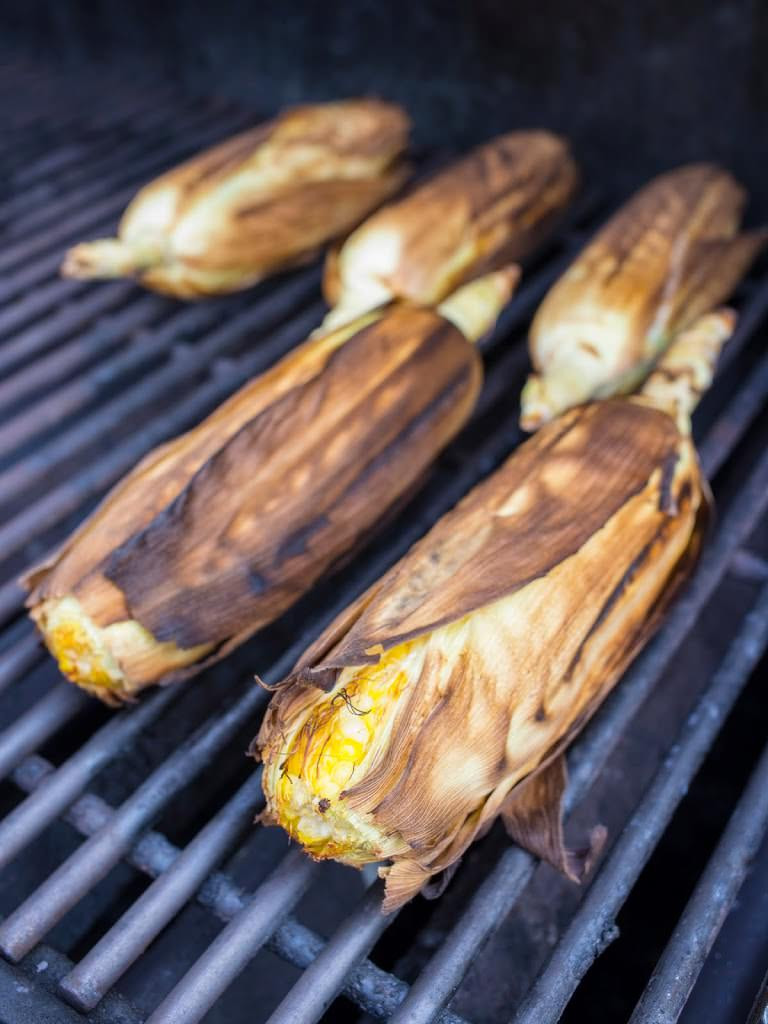 Corn In Husk On Grill  Grilled In The Husk Corn Dad Cooks Dinner
