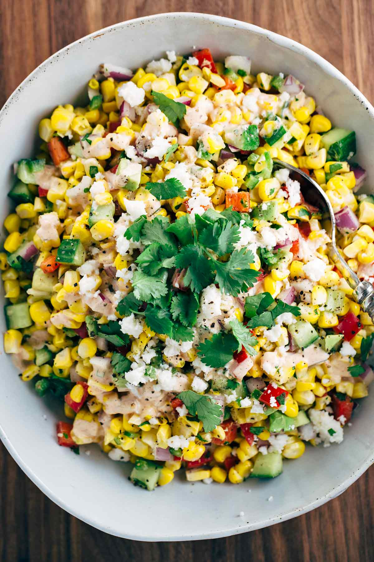 Corn Salad Recipes  mexican corn in a cup ingre nts
