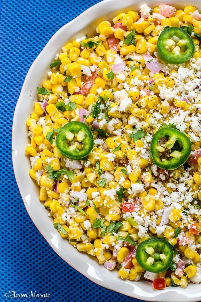 Corn Salad Recipes  Mexican Street Corn Salad Elote Deconstructed Flavor