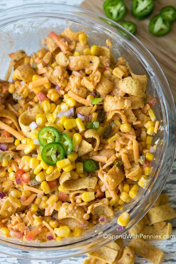 Corn Salad With Fritos  Frito Corn Salad Spend With Pennies