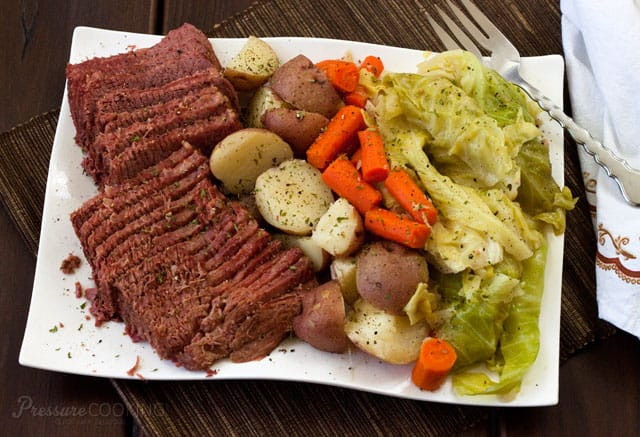 Cornbeef And Cabbage Recipe  Pressure Cooker Corned Beef and Cabbage