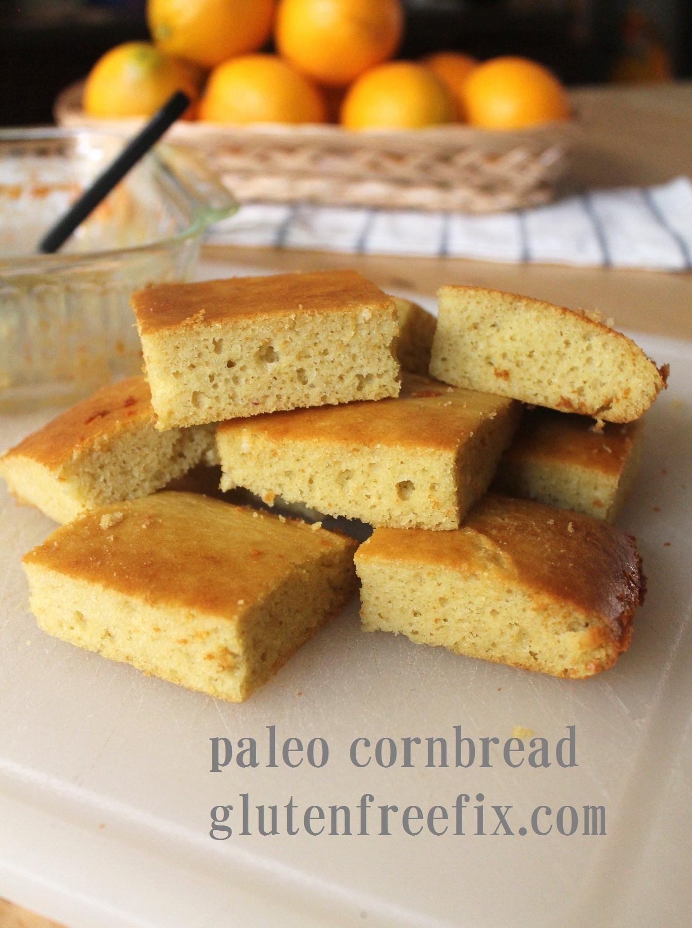 """Cornbread Gluten Free  Gluten and Grain Free """"Corn""""bread"""