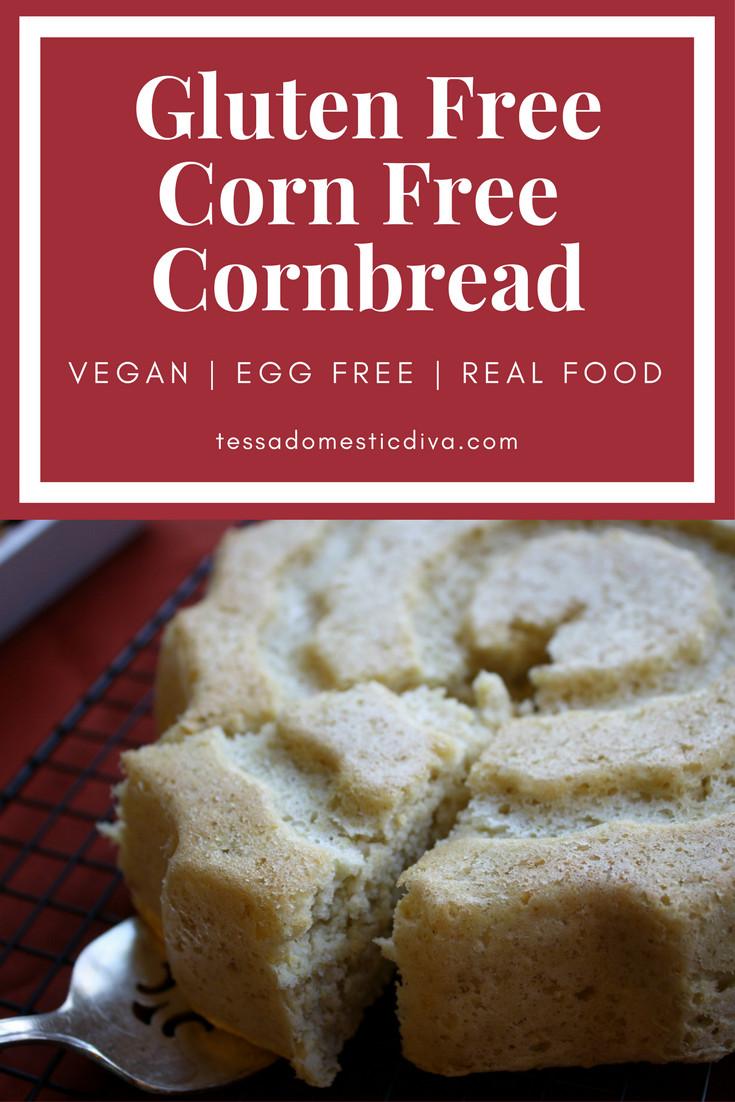 Cornbread Gluten Free  Corn Free Millet Cornbread Gluten Free w Vegan Option