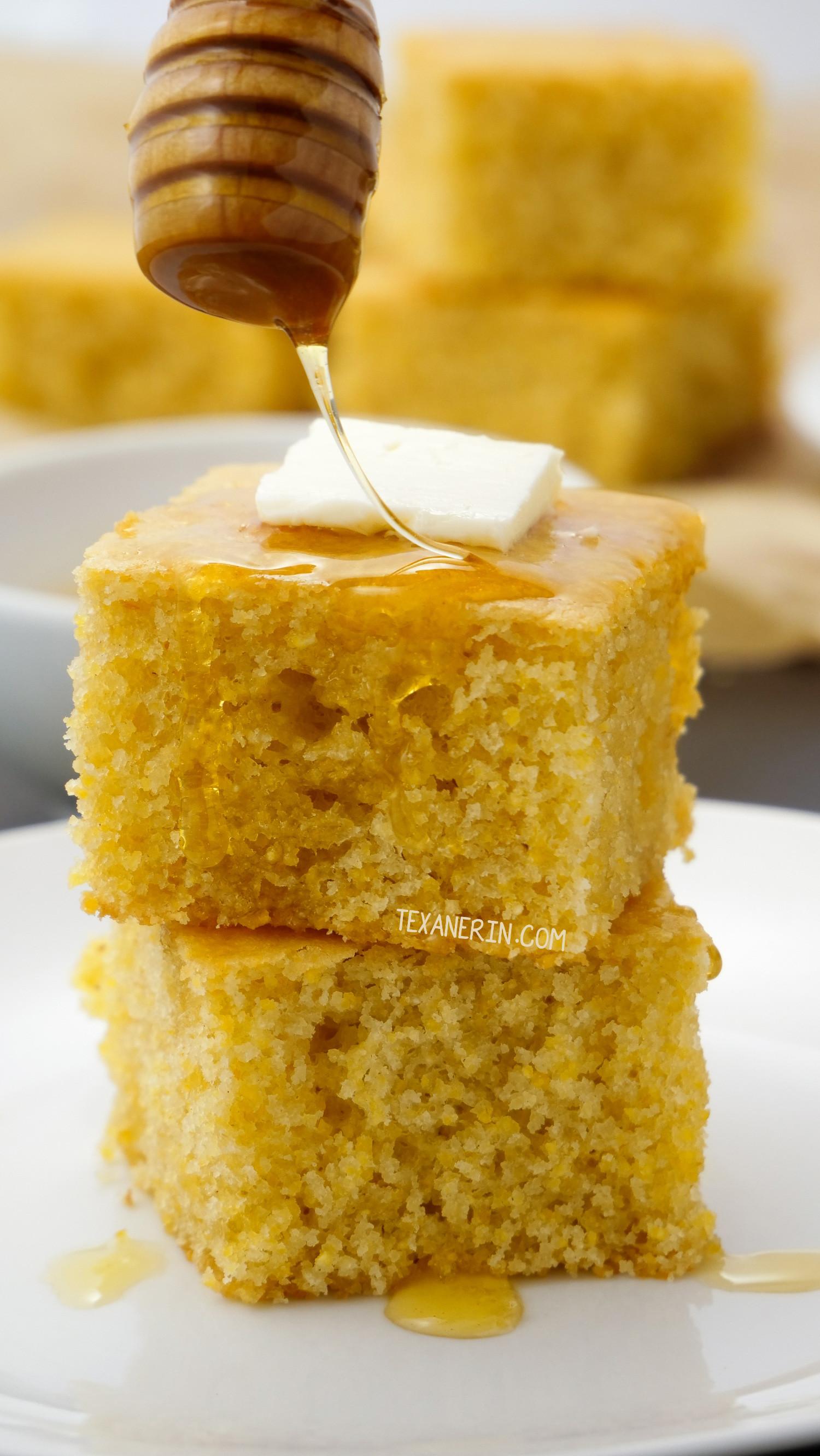 Cornbread Gluten Free  Gluten free Cornbread vegan option Texanerin Baking