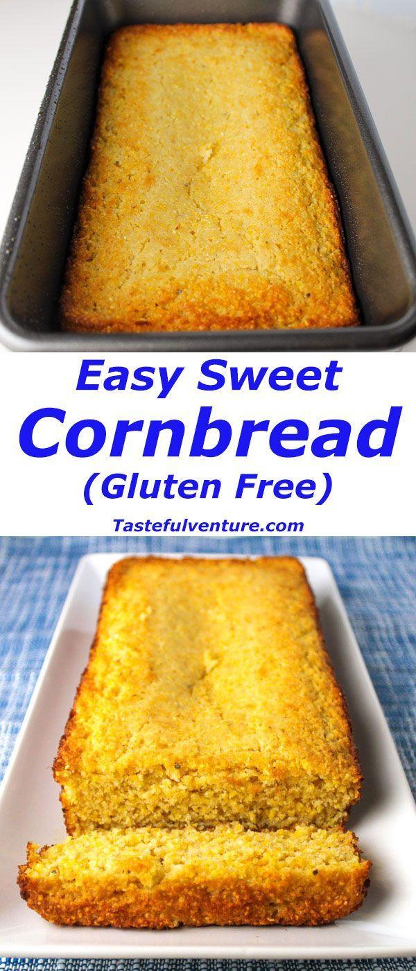 Cornbread Gluten Free  Easy Sweet Cornbread Gluten Free Recipe