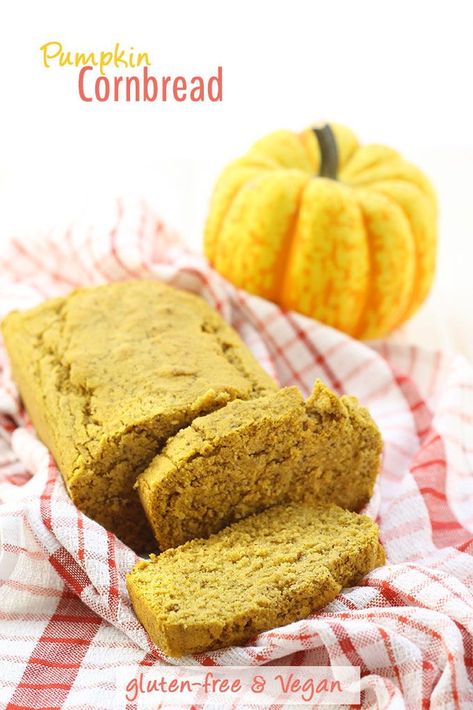Cornbread Gluten Free  Pumpkin Cornbread Gluten Free & Vegan Recipe