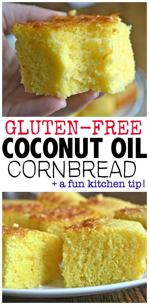 Cornbread Without Flour  Gluten Free Coconut Oil Cornbread