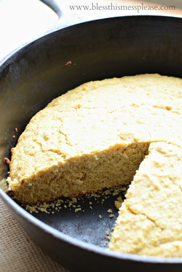 Cornbread Without Flour  Whole Grain Cornbread — Bless this Mess