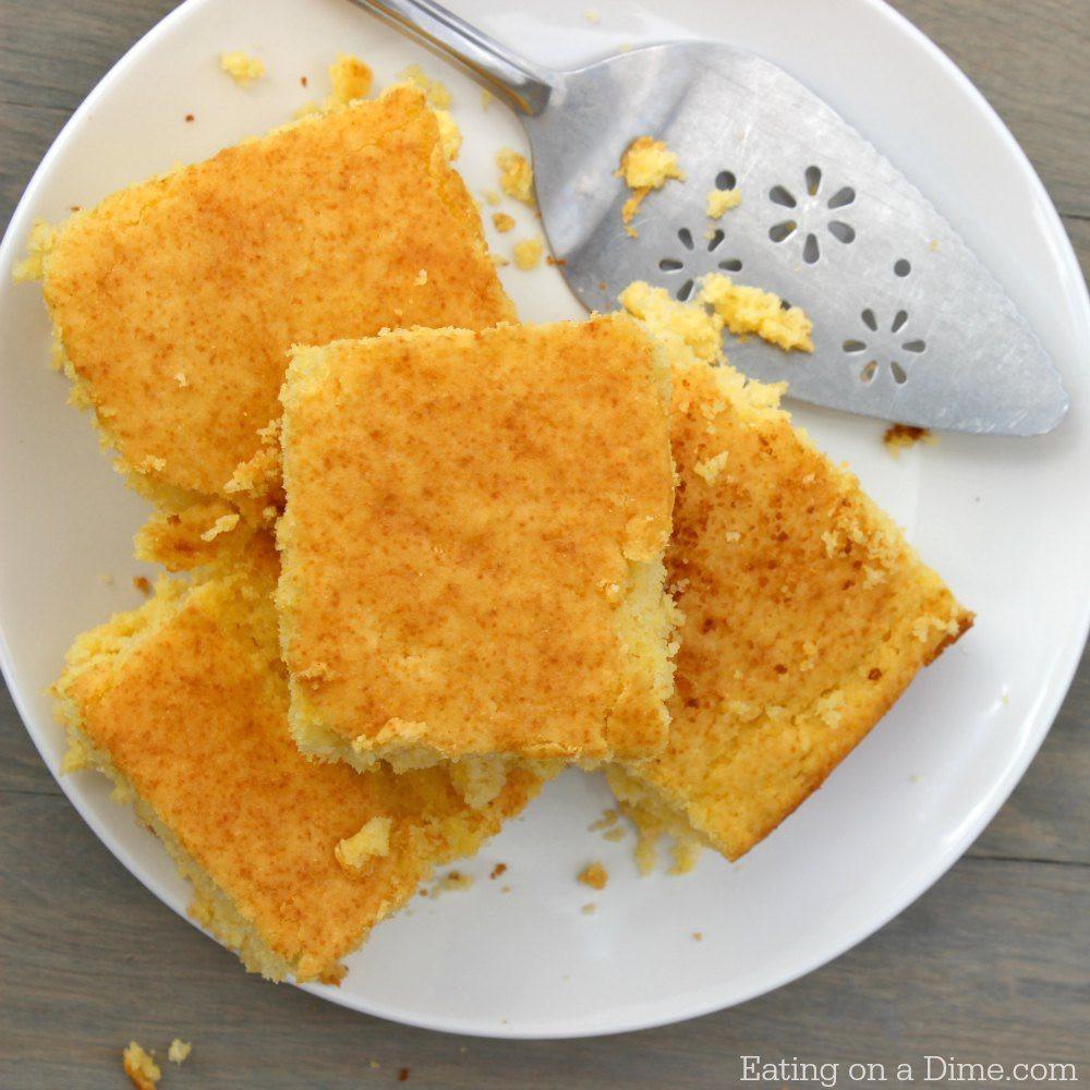 Cornbread Without Flour  Easy Homemade Cornbread recipe Buttery Cornbread recipe