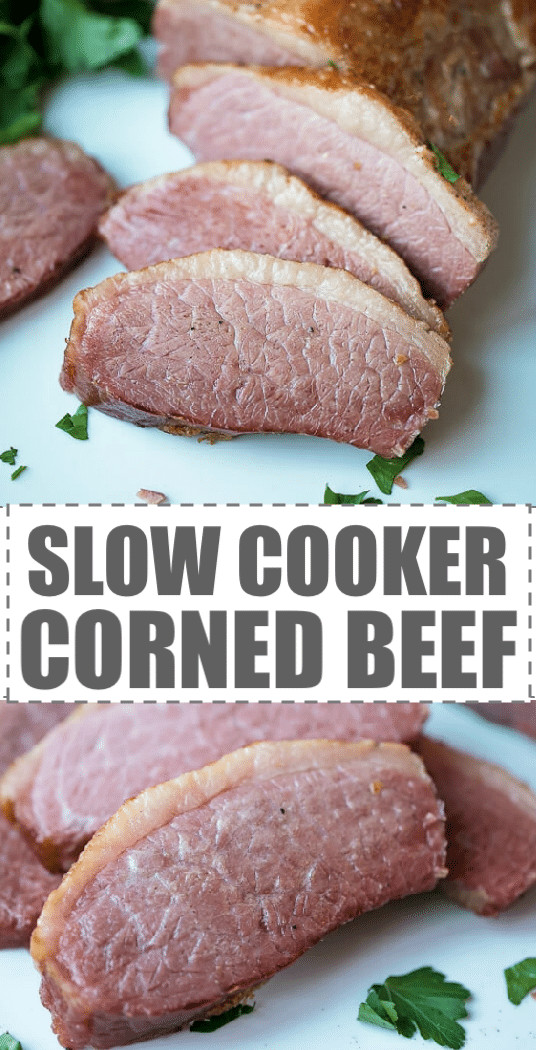 Corned Beef Brisket Slow Cooker For Sandwiches  Slow Cooker Corned Beef Recipe Cooking LSL