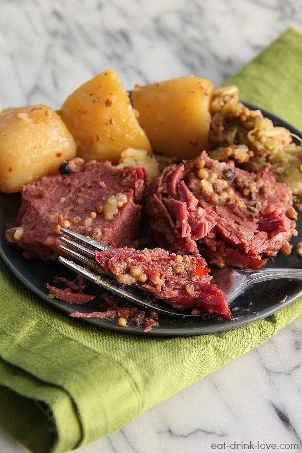 Corned Beef Cabbage Slow Cooker  Slow Cooker Corned Beef Eat Drink Love
