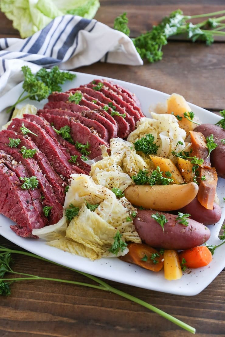 Corned Beef Crock Pot Recipe No Cabbage  Crock Pot Corned Beef and Cabbage The Roasted Root