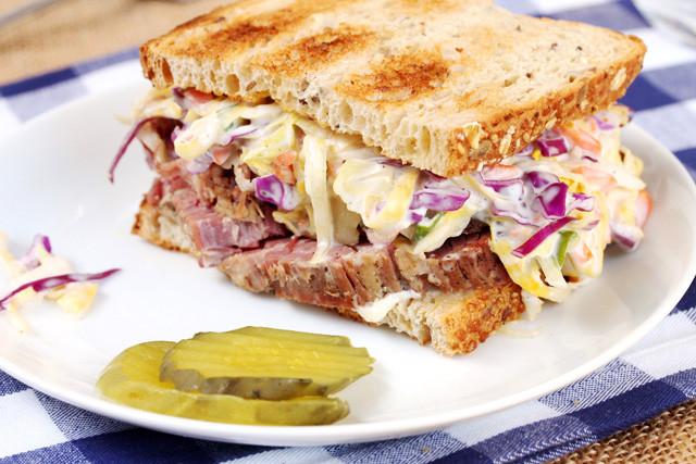 Corned Beef Sandwiches  Corned Beef and Slaw Sandwich