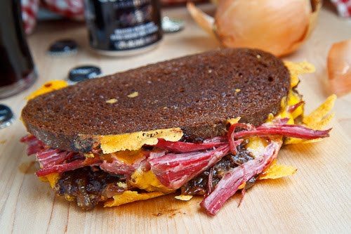Corned Beef Sandwiches  Corned Beef Grilled Cheese Sandwich with Guinness
