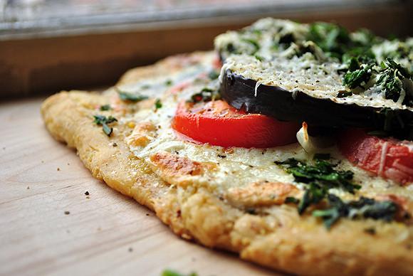 Cornmeal Pizza Crust  Eggplant Tomato Pizza with Cornmeal Crust – My Life Runs