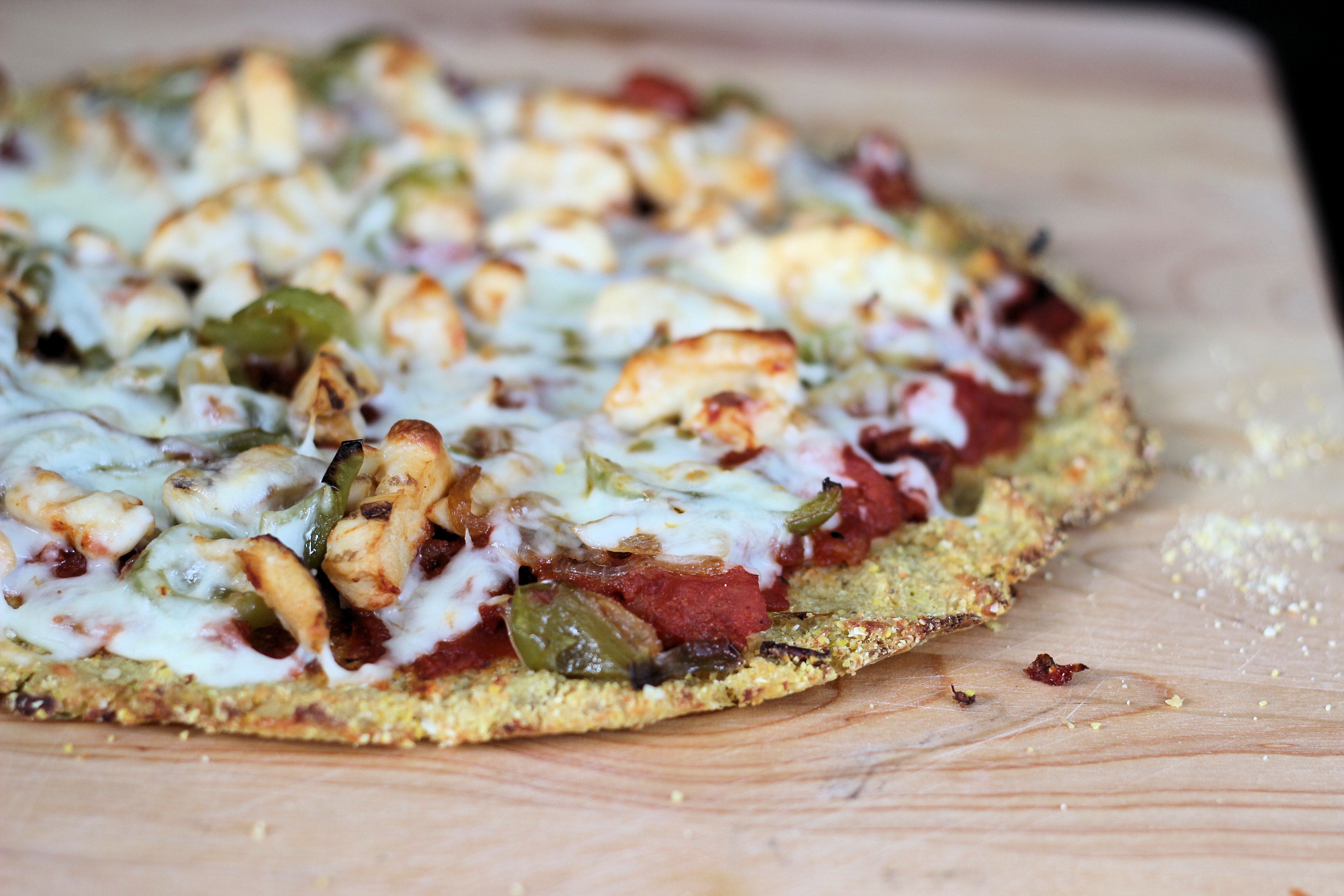 Cornmeal Pizza Crust  The Perfect Cauliflower Cornmeal Pizza Crust Gluten Free