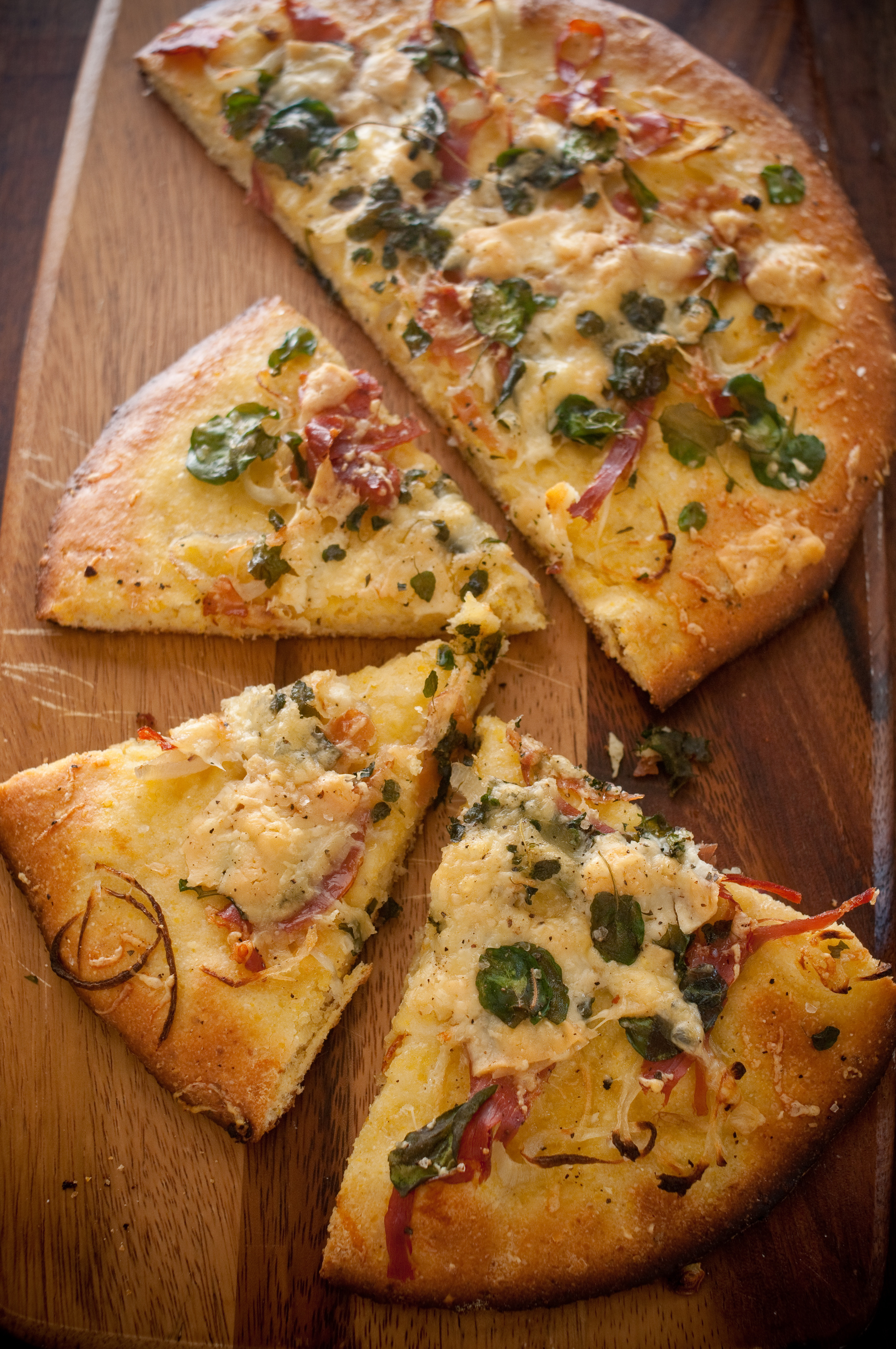 Cornmeal Pizza Crust  Mystery Cheese Cornmeal Crust Pizza