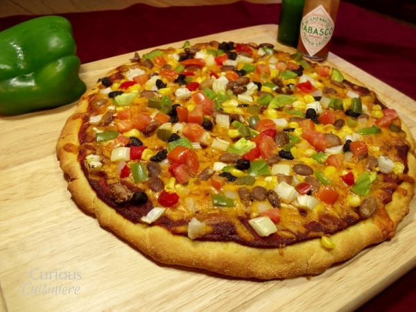 Cornmeal Pizza Crust  Cornmeal Pizza Crust for Mexican Pizza • Curious Cuisiniere