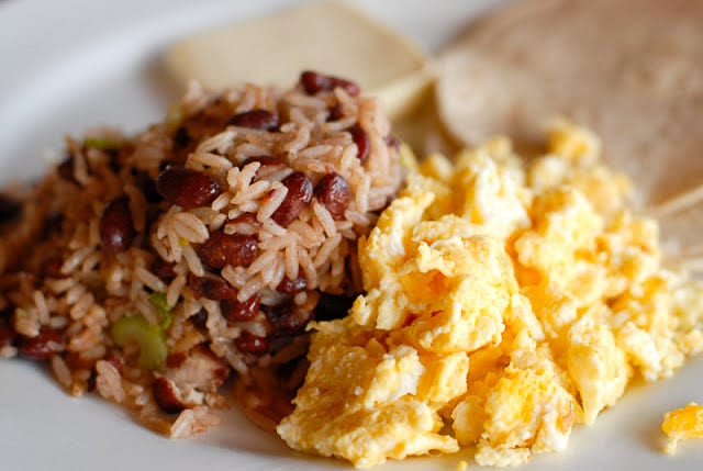 Costa Rican Rice And Beans  Costa Rican Gallo Pinto beans and rice recipe