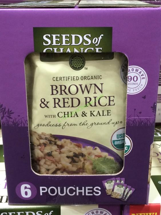 Costco Brown Rice  Seeds of Change Organic Brown Rice with Chia & Kale 6 8 5