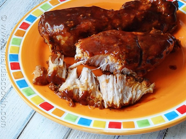 Country Style Pork Ribs Slow Cooker  Slow Cooker Barbecued Country Style Ribs Amanda s Cookin