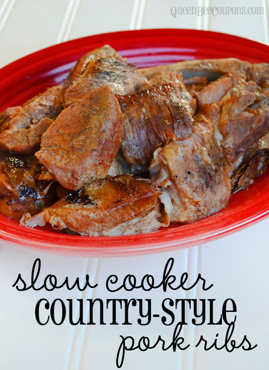 Country Style Pork Ribs Slow Cooker  Slow cooker crockpot country style pork ribs recipe