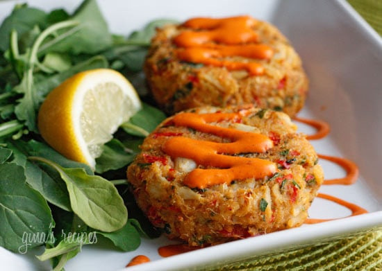 Crab Cake Recipe  Baked Lump Crab Cakes with Red Pepper Chipotle Lime Sauce