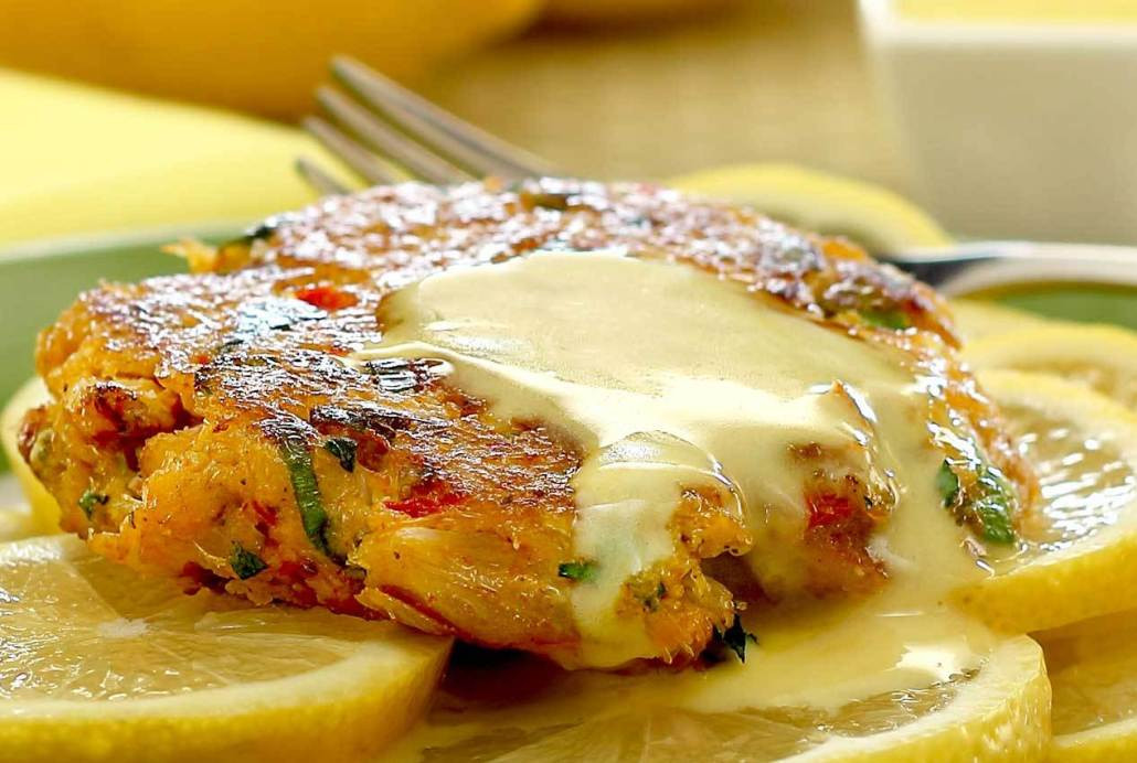 Crab Cakes Sauce  Paleo Crabcakes with Lemon Aioli Sauce