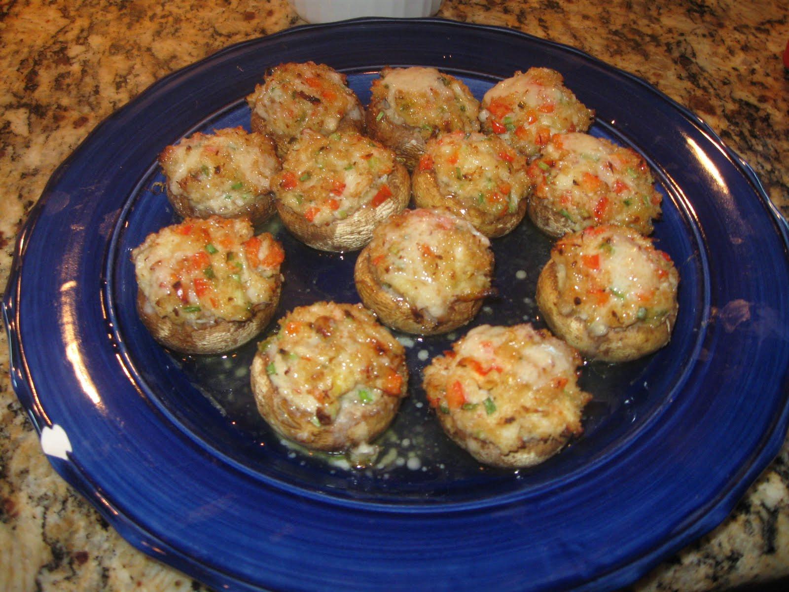 Crab Stuffed Mushroom Recipe  My Songs of Joy Family Food & Wine Crab Stuffed Mushrooms