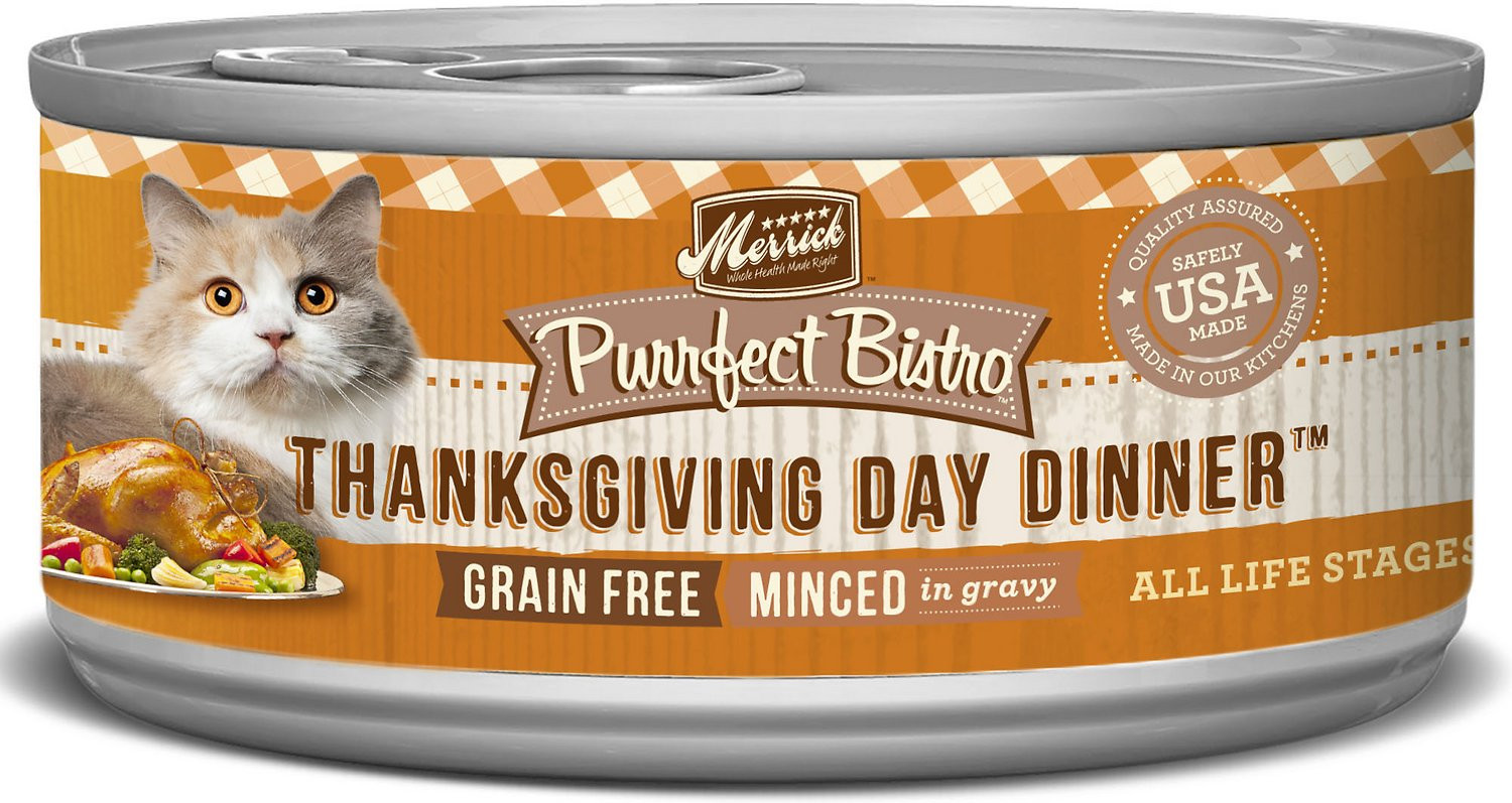 Craigs Thanksgiving Dinner In A Can  Merrick Purrfect Bistro Grain Free Thanksgiving Day Dinner