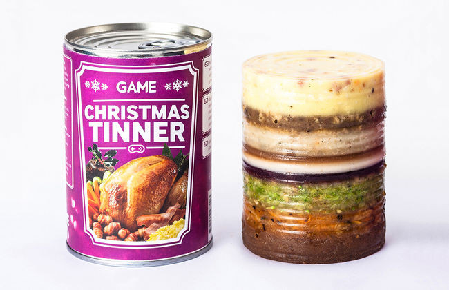 Craigs Thanksgiving Dinner In A Can  Christmas dinner for gamers sold in a can