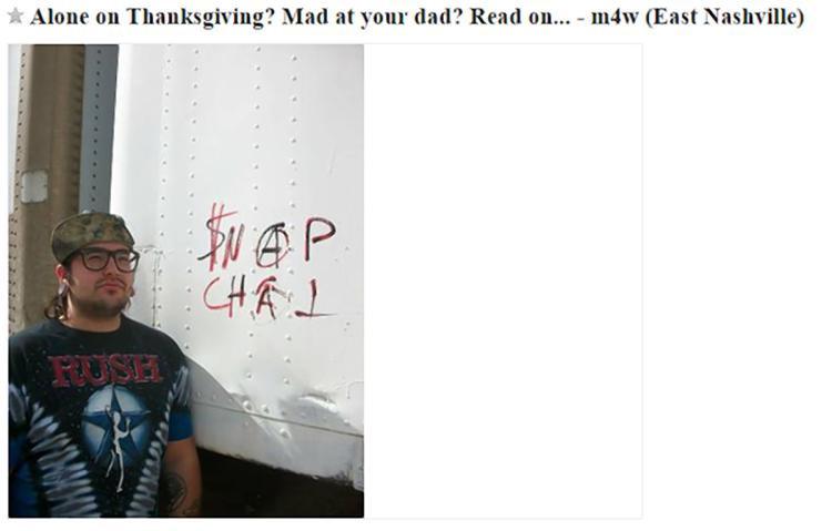 Craigslist Thanksgiving Dinner In A Can  Ex felon in Tenn s Thanksgiving date through