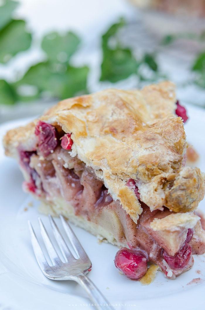 Cranberry Apple Pie  Rustic Apple Cranberry Pie