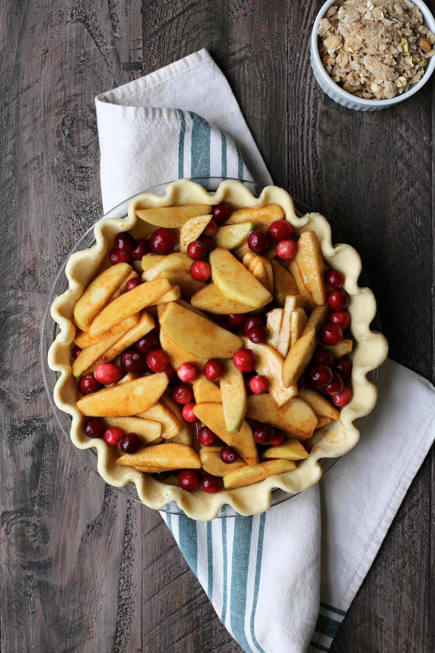 Cranberry Apple Pie  Apple Cranberry Crumble Pie