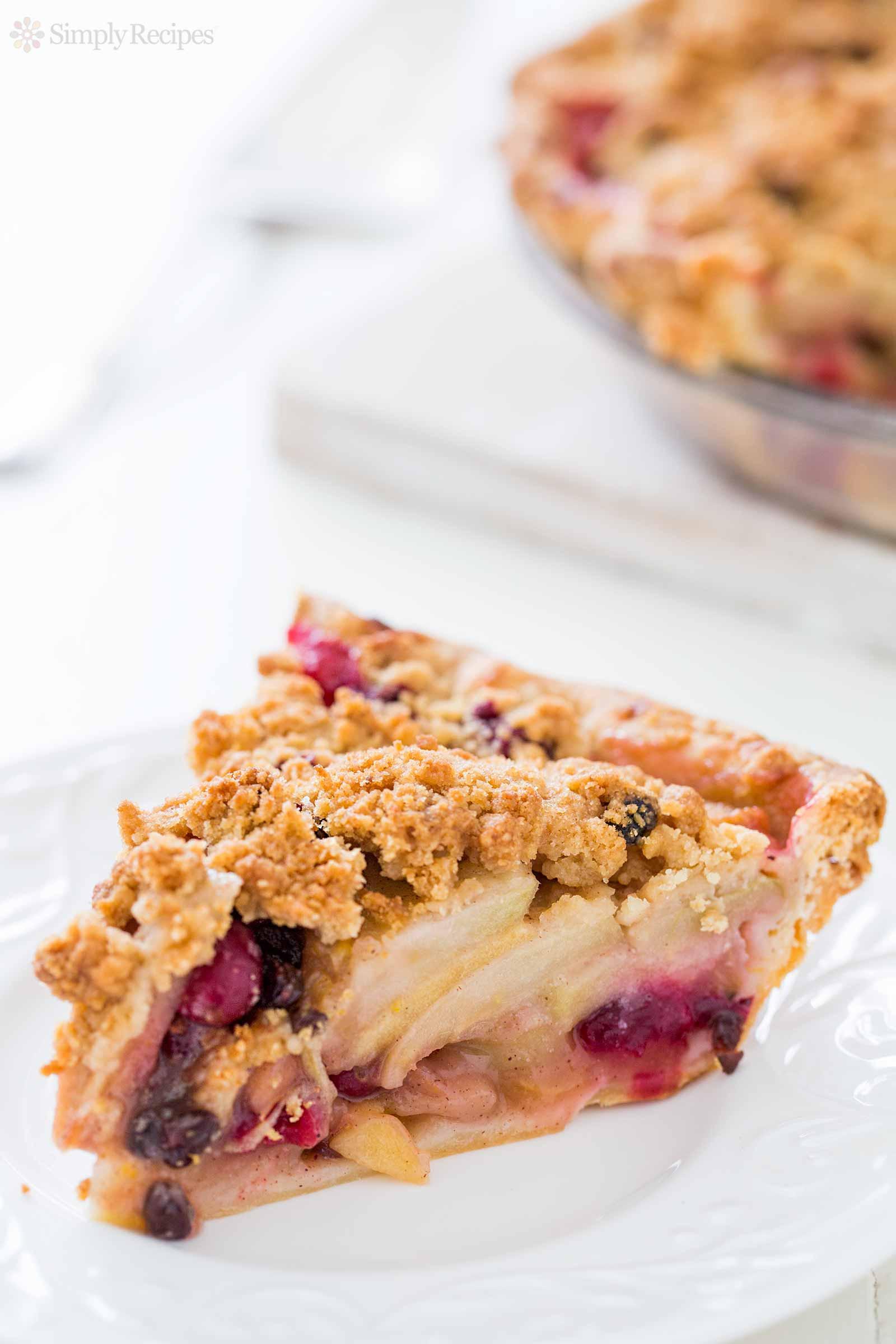 Cranberry Apple Pie  Apple Cranberry Currant Crumble Pie Recipe