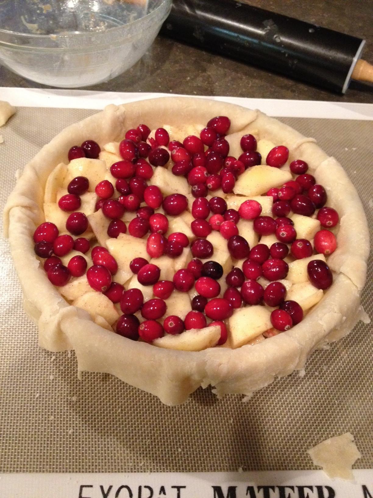 Cranberry Apple Pie  cranberry apple pie filling
