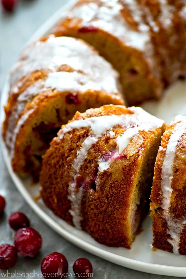 Cranberry Orange Bundt Cake  Cranberry Orange Bundt Cake with Eggnog Glaze