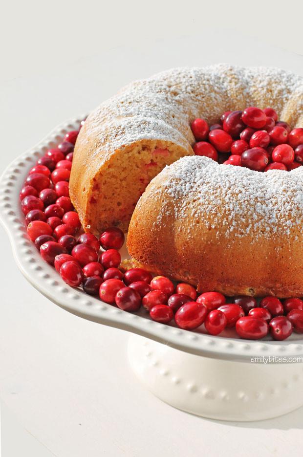 Cranberry Orange Bundt Cake  Orange Cranberry Bundt Cake Emily Bites