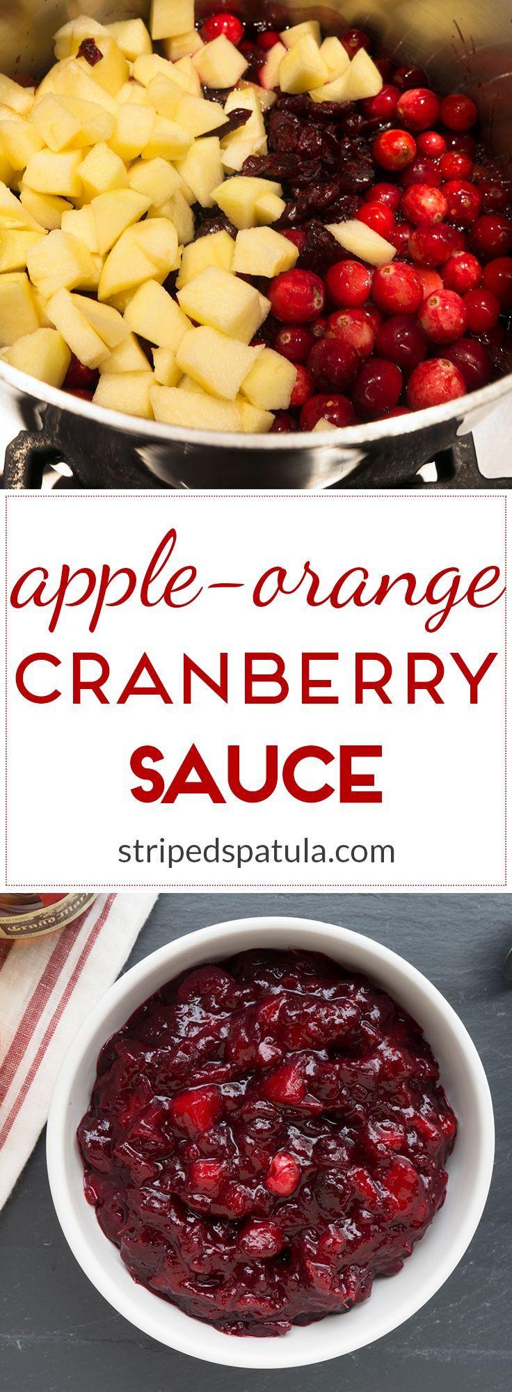 Cranberry Recipes For Thanksgiving  Apple Orange Cranberry Sauce Recipe