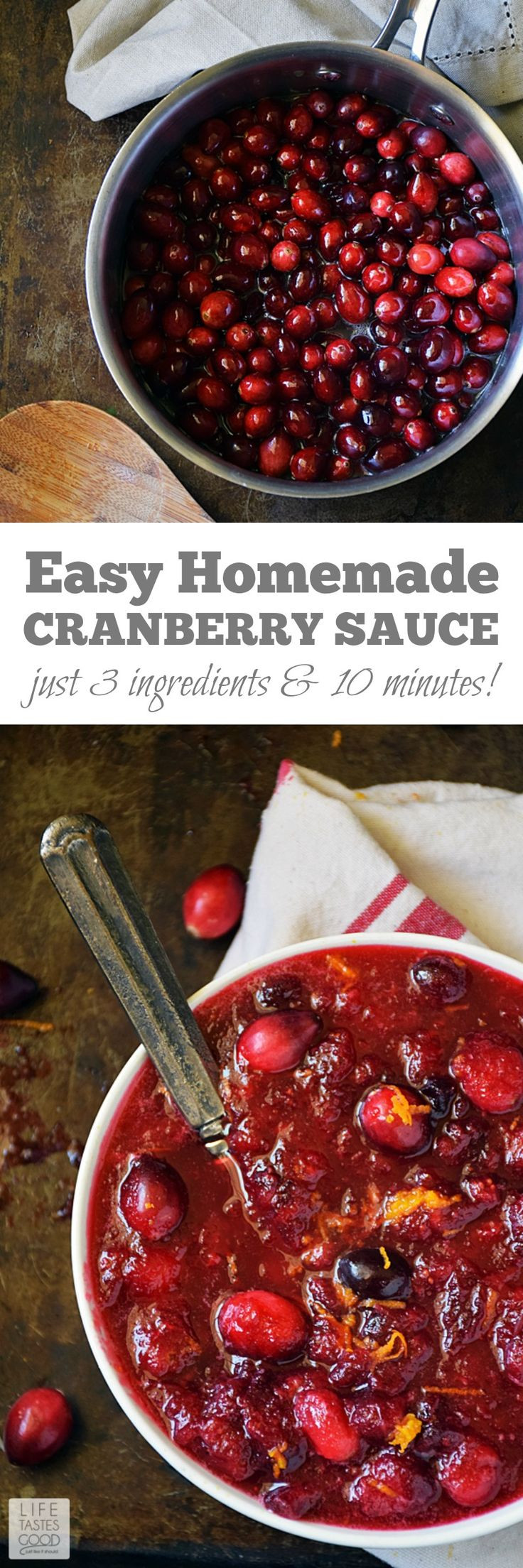 Cranberry Recipes For Thanksgiving  Easy Homemade Cranberry Sauce
