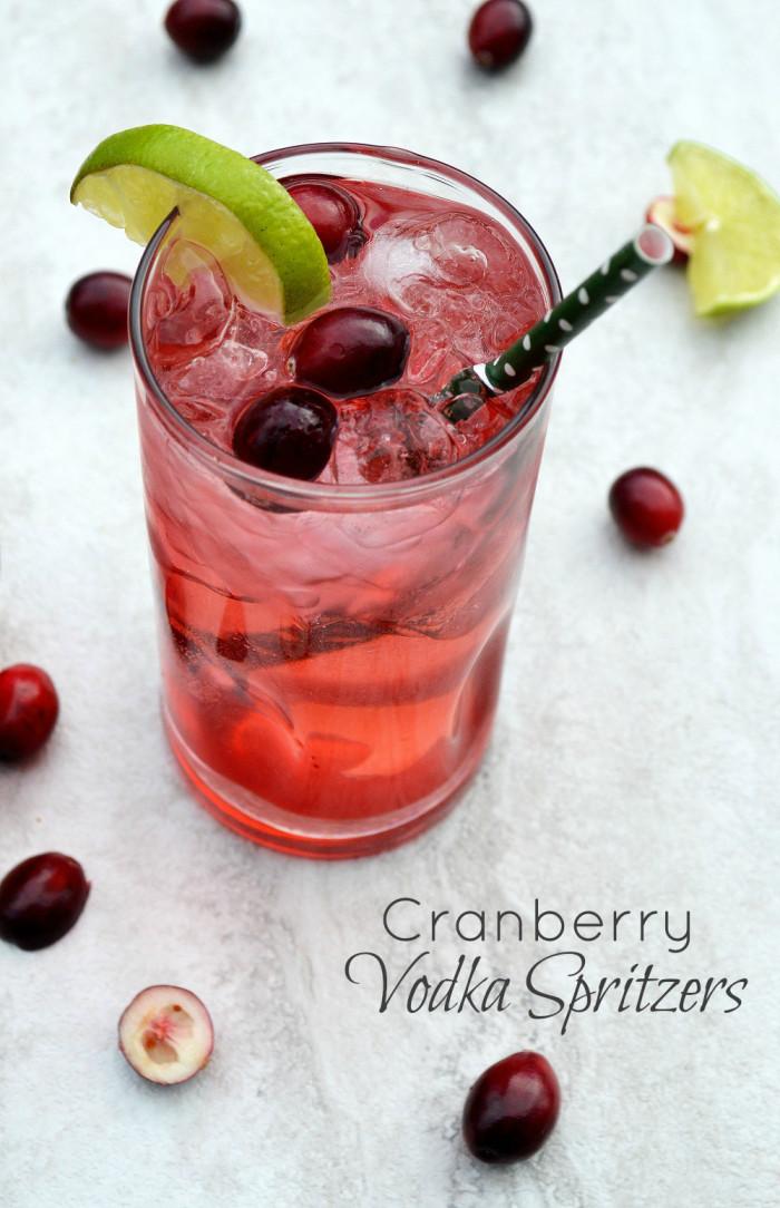 Cranberry Vodka Drinks  Holiday Cocktail Cranberry Vodka Spritzers