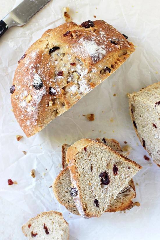 Cranberry Walnut Bread  Cranberry Walnut Bread Cook Nourish Bliss
