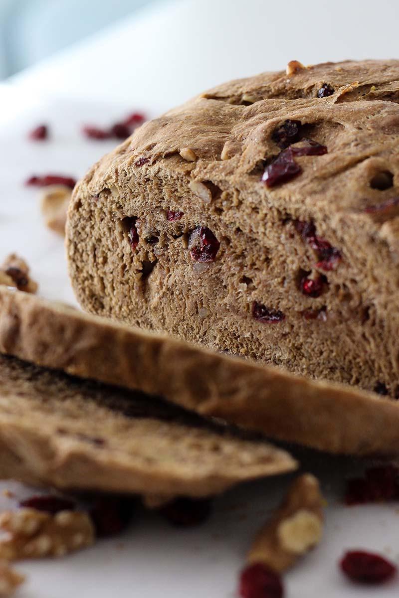 Cranberry Walnut Bread  Whole Wheat Cranberry Walnut Bread recipe