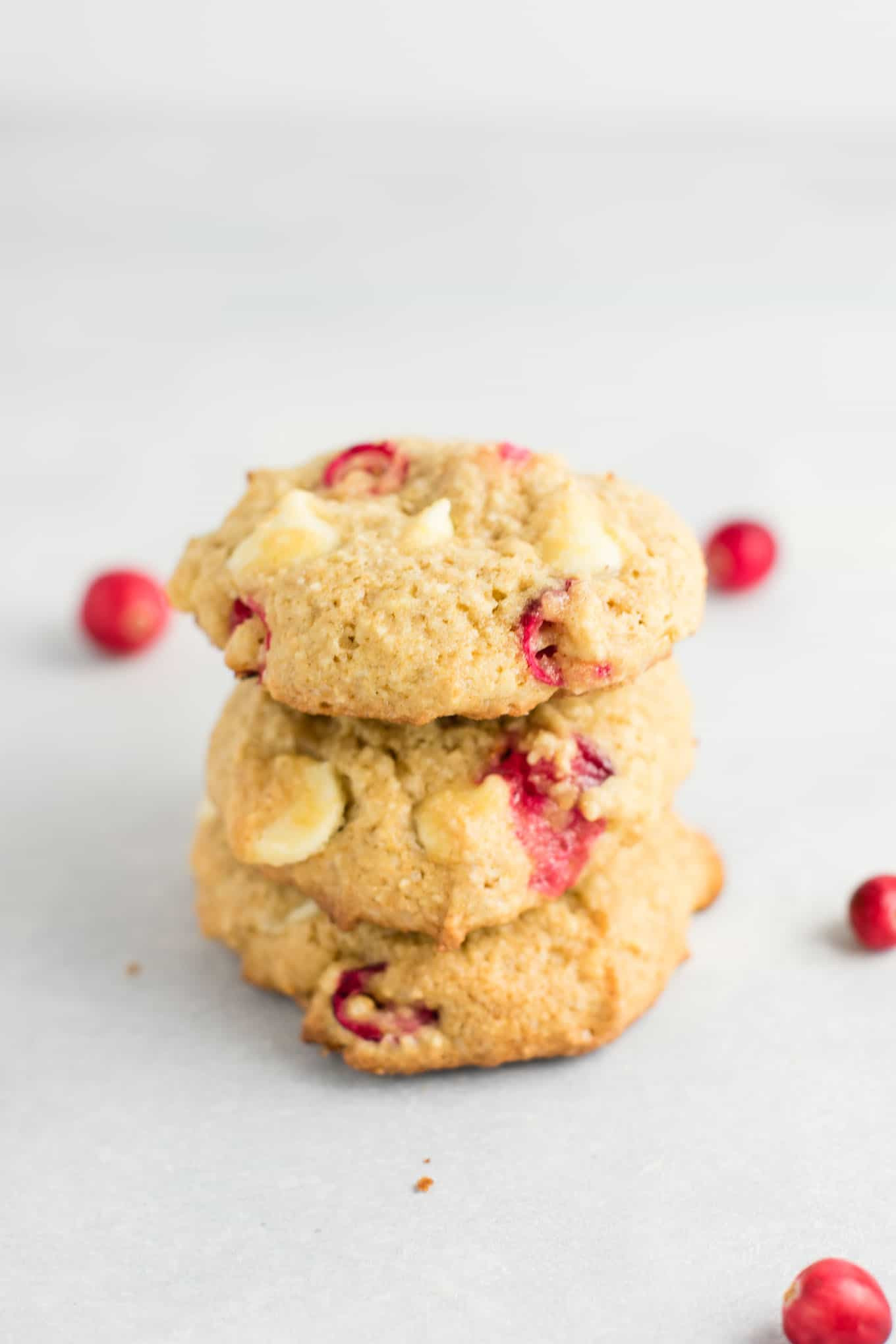 Cranberry White Chocolate Chip Cookies  Cranberry White Chocolate Chip Cookies with fresh