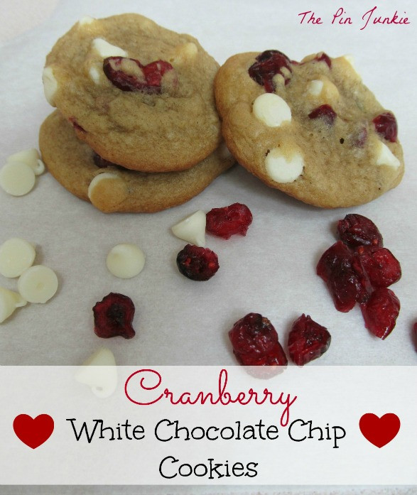 Cranberry White Chocolate Chip Cookies  Cranberry White Chocolate Chip Cookies