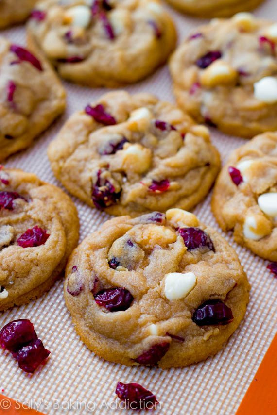 Cranberry White Chocolate Chip Cookies  Soft Baked White Chocolate Chip Cranberry Cookies Sallys