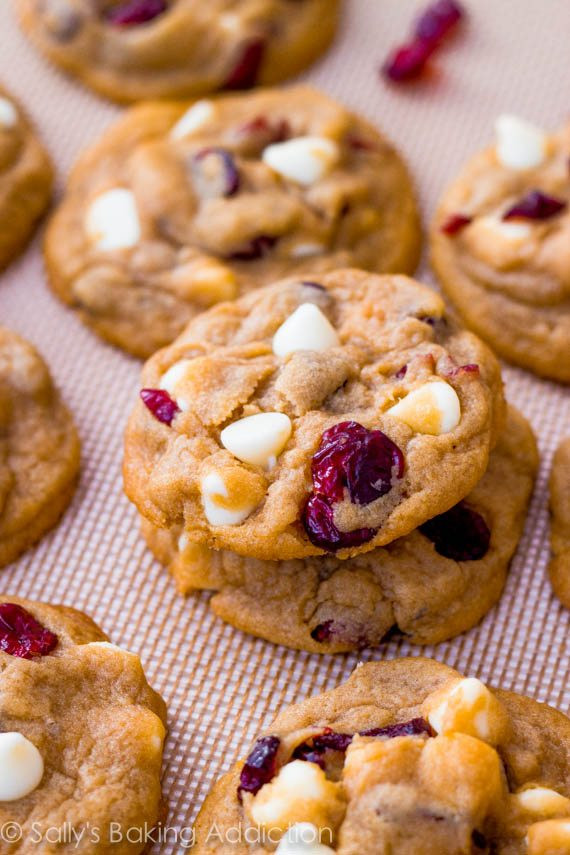 Cranberry White Chocolate Cookies  Gingerbread Muffins with Sweet Lemon Glaze Sallys Baking