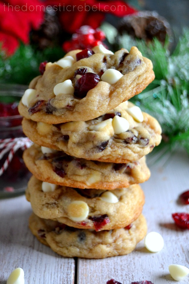 Cranberry White Chocolate Cookies  The BEST Soft & Chewy Cranberry White Chocolate Chip